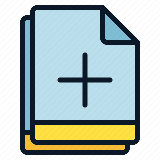 add, file, increase, multiple, plus icon