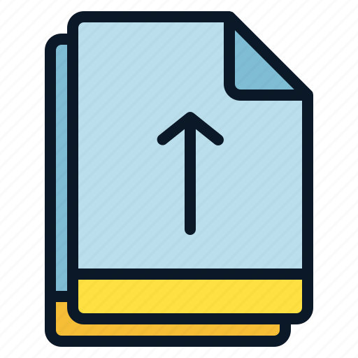 arrow, file, move, multiple, up icon