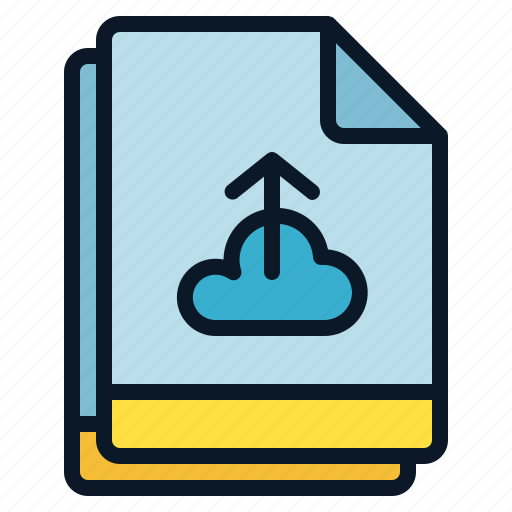backup, cloud, file, multiple, upload icon