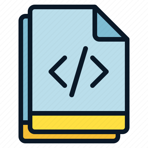 Multiple, code, programming, file, script icon