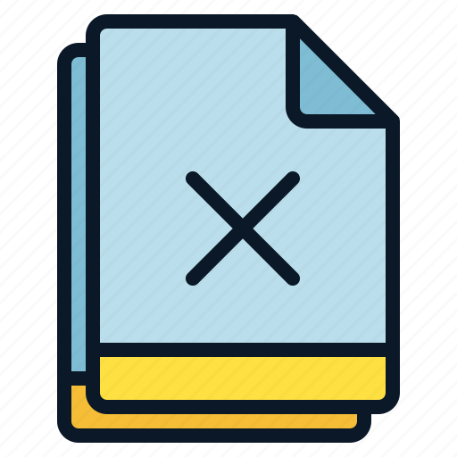 cross, denied, error, file, multiple icon