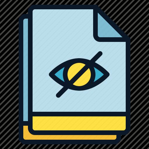 eye, file, hidden, multiple, visibility icon