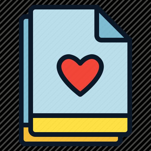 favorite, file, like, love, multiple icon
