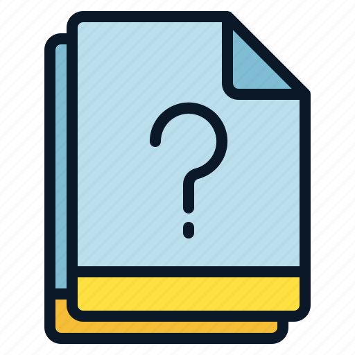 file, miscellaneous, multiple, question, unknown icon