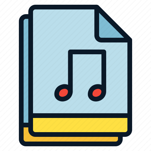 file, multiple, music, note, sound icon