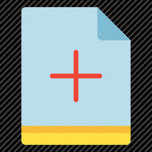 add, file, increase, plus icon
