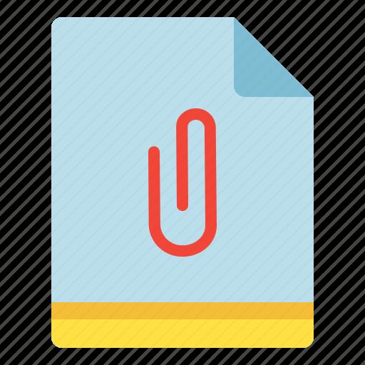 add, attachment, clip, file, on icon