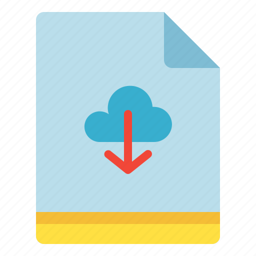 backup, cloud, download, file icon