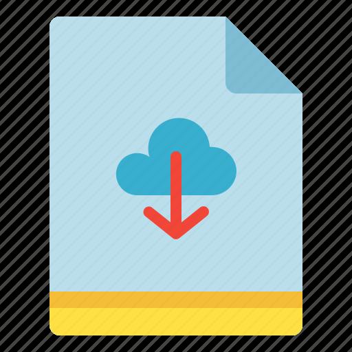Backup, cloud, download, file icon - Download on Iconfinder