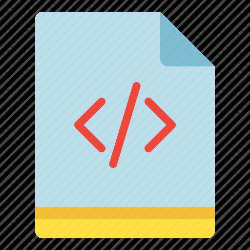 code, file, programming, script icon