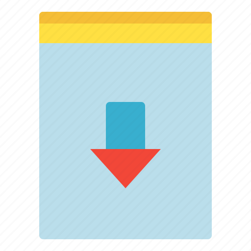 Arrow, down, download, file icon - Download on Iconfinder