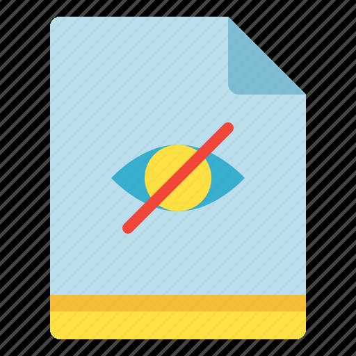 eye, file, hidden, visibility icon