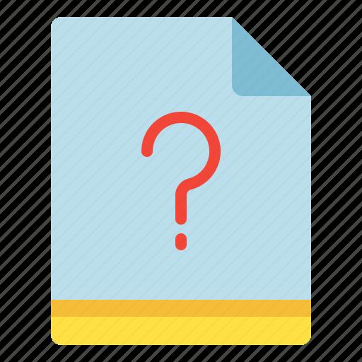 file, miscellaneous, question, unknown icon
