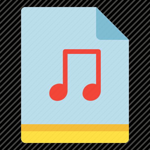 file, music, note, sound icon