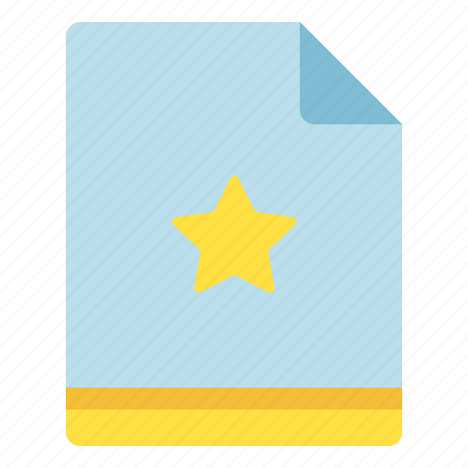 favorite, file, important, star icon