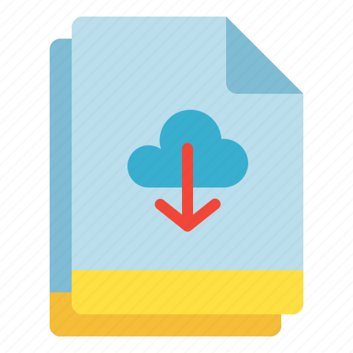backup, cloud, download, file, multiple icon