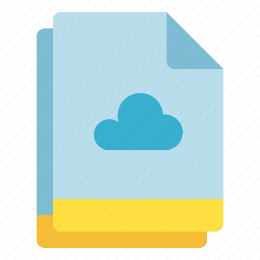 cloud, file, multiple, save, storage icon