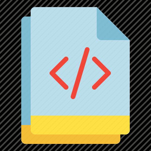 code, file, multiple, programming, script icon