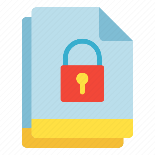 file, lock, multiple, protect, secure icon