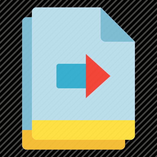 arrow, copy, file, move, multiple icon