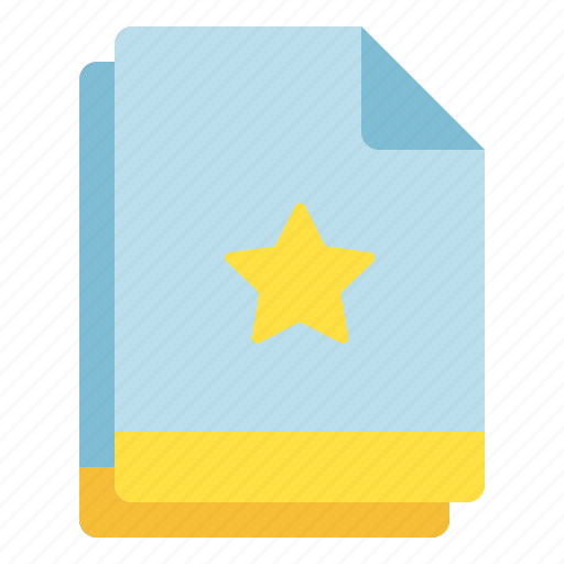 favorite, file, important, multiple, star icon