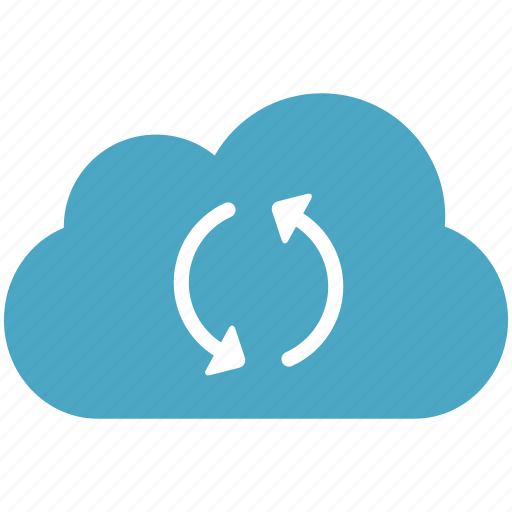 blue, cloud, cloudy, refresh icon