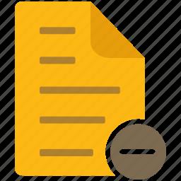content, delete, document, file, letter, page icon