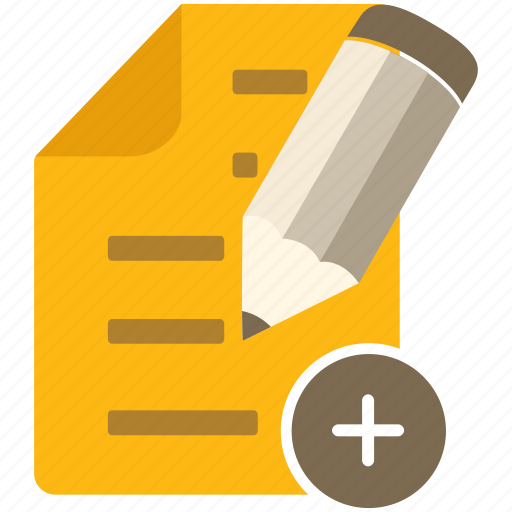 content, document, email, file, letter, mail, new, page, pen, pencil icon