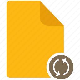 content, document, file, page, refresh icon