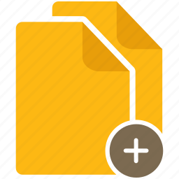 add, content, document, file, page icon