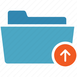 arrow, deploy, documents, file, folder, upload icon