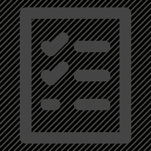 check list, checklist, list, plan list, report icon