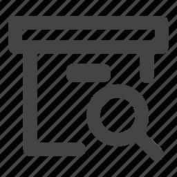 archive, folder, folder search, search icon
