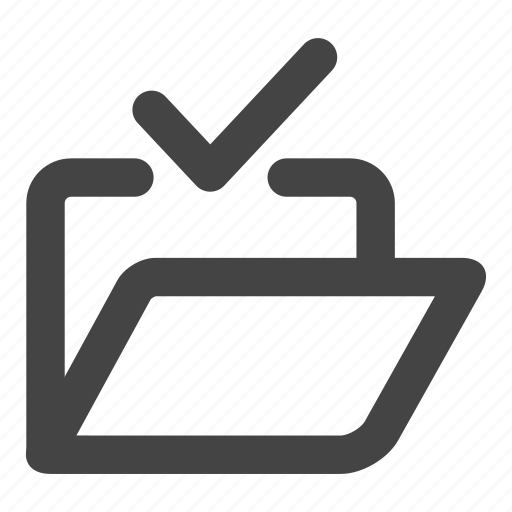 accept, check, check folder, document, documents, file, folder icon