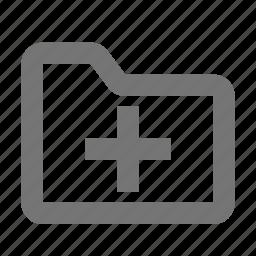 add, folder, new, plus icon