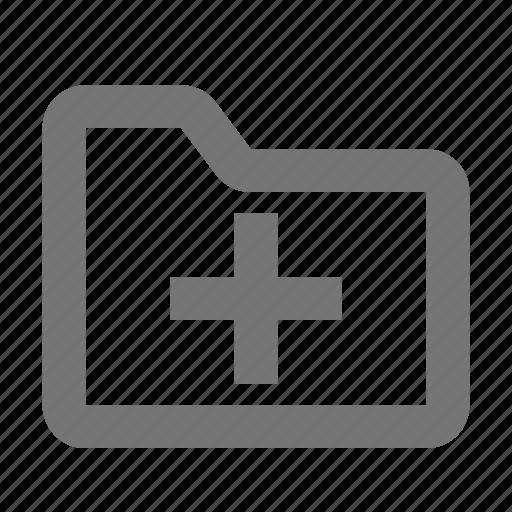 add, archive, document, file, folder, new, plus icon