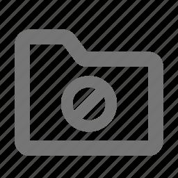 block, folder, stop icon