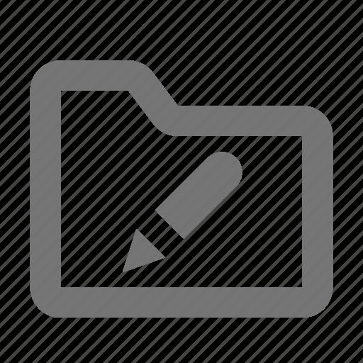edit, folder, pen, pencil icon