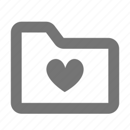 archive, document, favorite, file, folder, heart, like icon