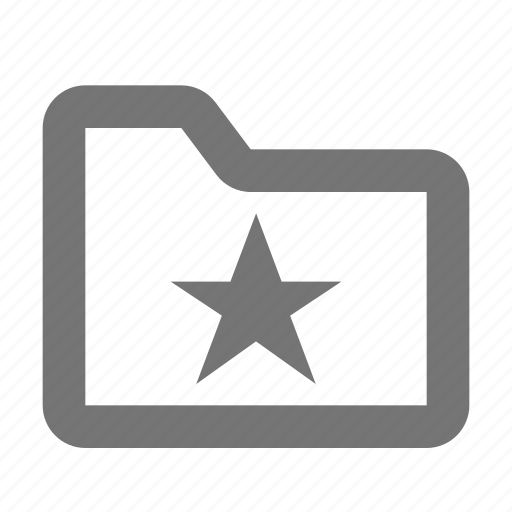 archive, document, favorite, file, folder, save, star icon