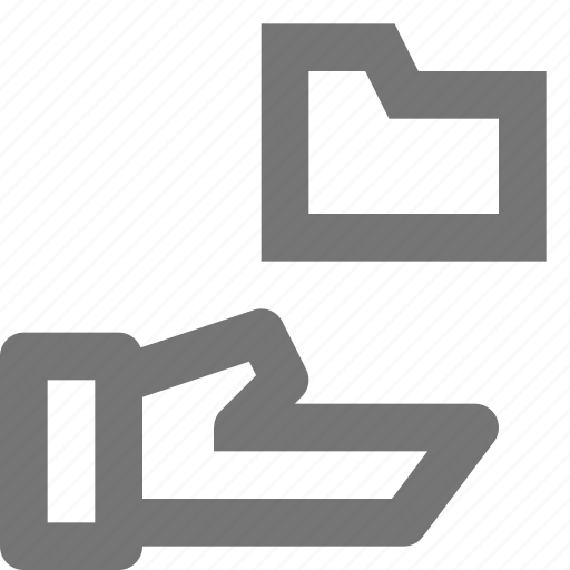 archive, document, file, folder, hand, share, transfer icon
