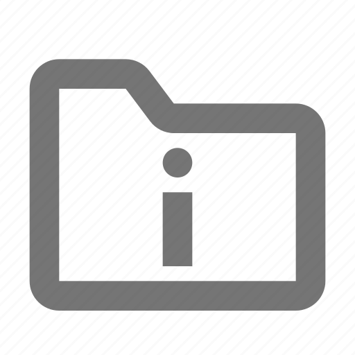 archive, document, file, folder, info, information icon