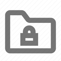 folder, lock, security icon