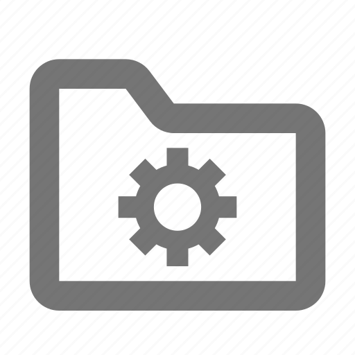 archive, configuration, document, file, folder, gear, settings icon
