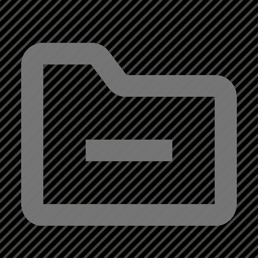 archive, document, file, folder, minimize, minus icon