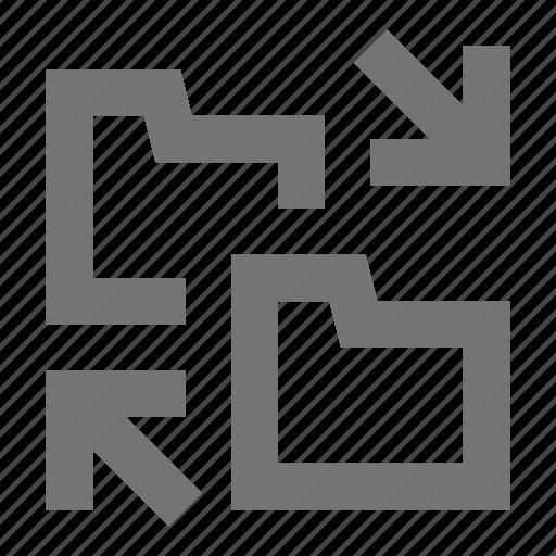 archive, arrows, document, exchange, file, folder, swap, transfer icon