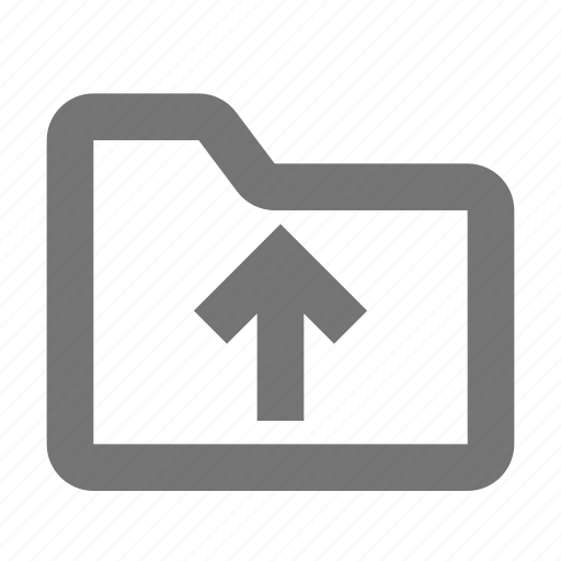 arrow, folder, up, upload icon