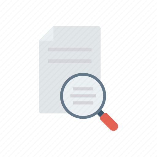 analysis, document, files, search icon