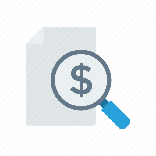 analysis, invoice, search, tax icon