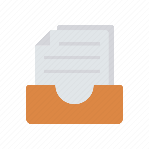 archive, document, drawer, files icon